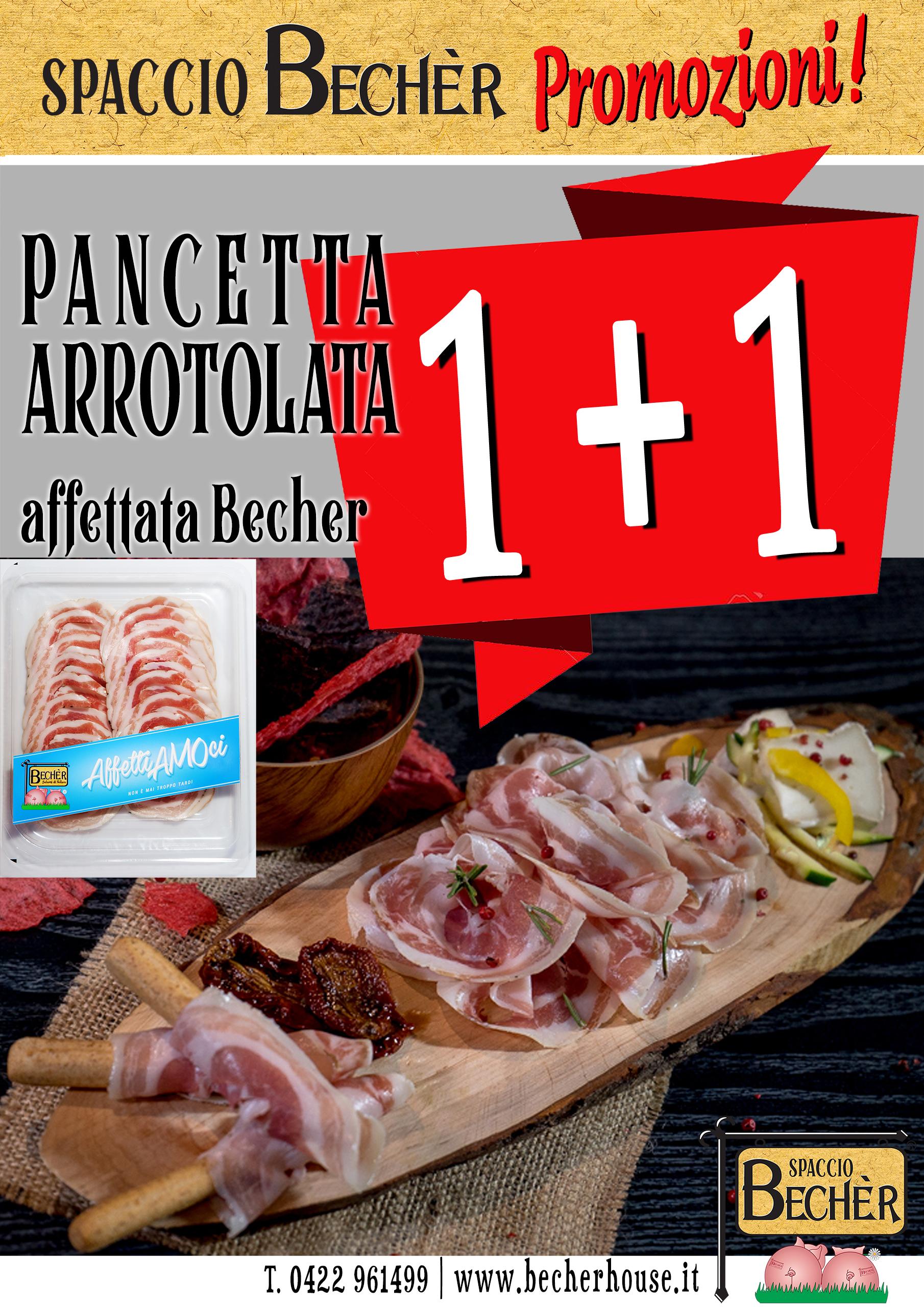 Flyer promo pancetta arrotolata affettata sito